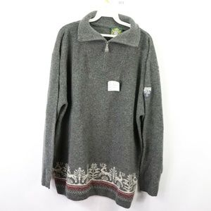 Vintage New Hammerschmid Lambswool Sweater Gray XL